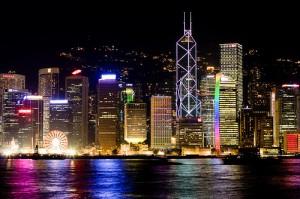 Hong Kong de nuit.